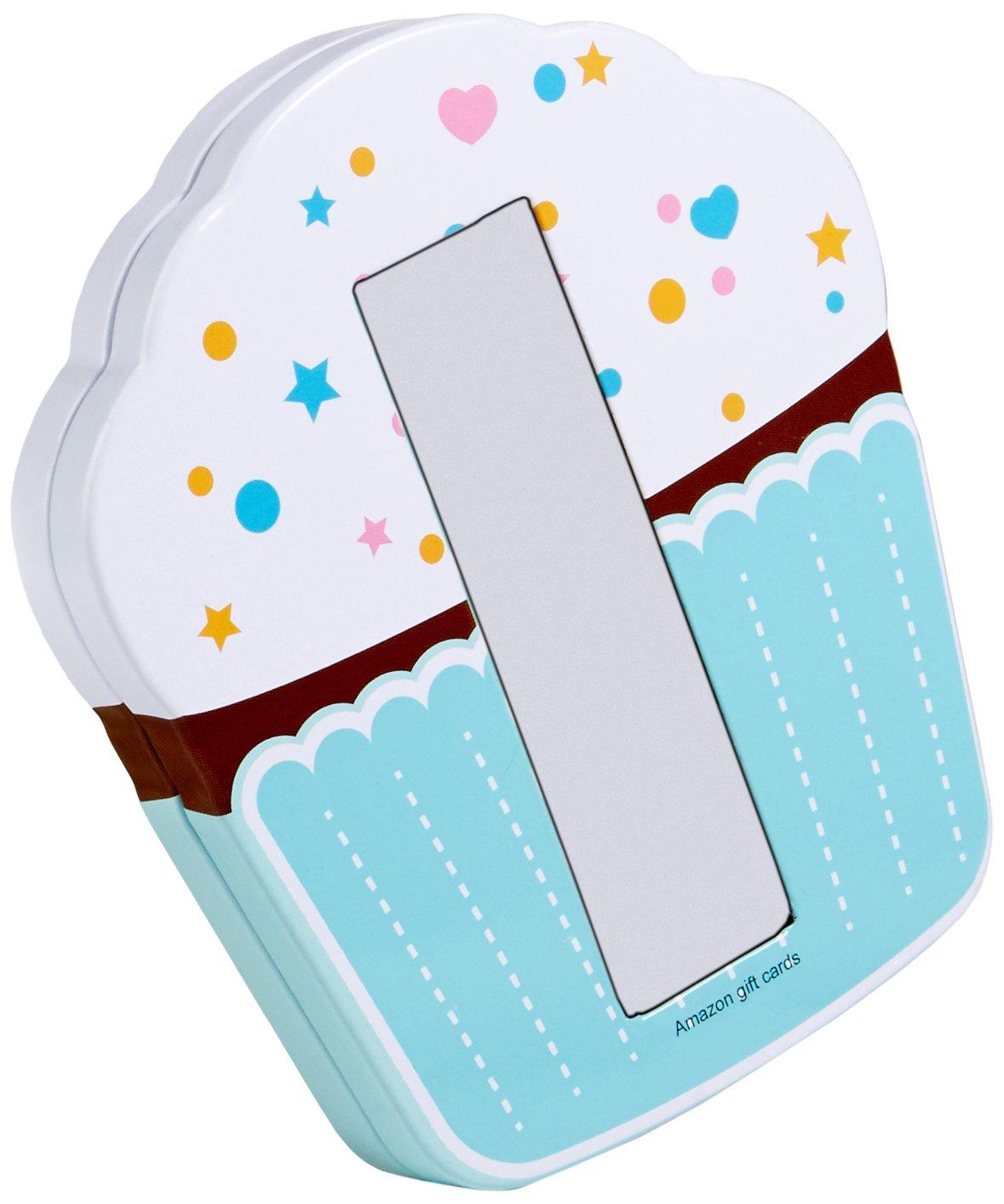 Amazon Gift Card In A Birthday Cupcake Tin