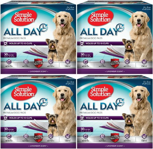 Simple Solution All Day Premium Lavender Dog Pads, 23x24 200ct (4 x 50ct)