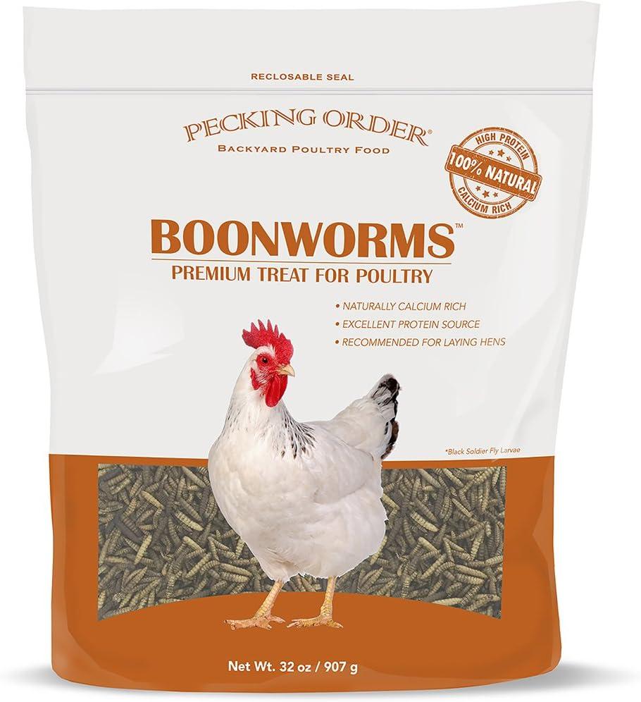 Pecking Order Boonworm Treats, Dried Boonworms (32 oz)