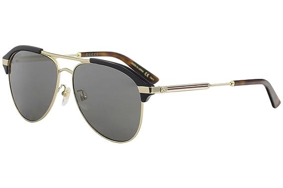 1d67faec32 Amazon.com  Gucci Grey-Silver Aviator Sunglasses GG0288SA-005 60 ...