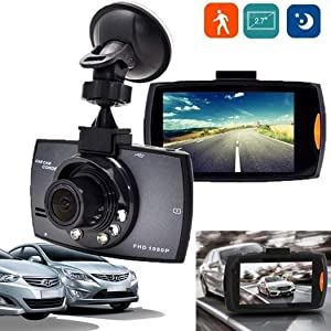 Eubell Dash Cam 1080P FHD DVR Car Driving Recorder 2.7 Inch LCD Screen 120° Wide Angle, GPS Remote Positioning, Loop Recording, Parking Monitoring