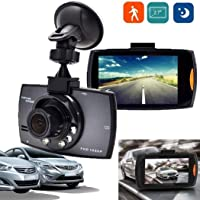 SUPRIQLO Dash Cam 2.7''LCD Durable Practical HD 1080P Display Wide Angle Lens Car Driving Recorder,120° Wide Angle, In-Visor Video