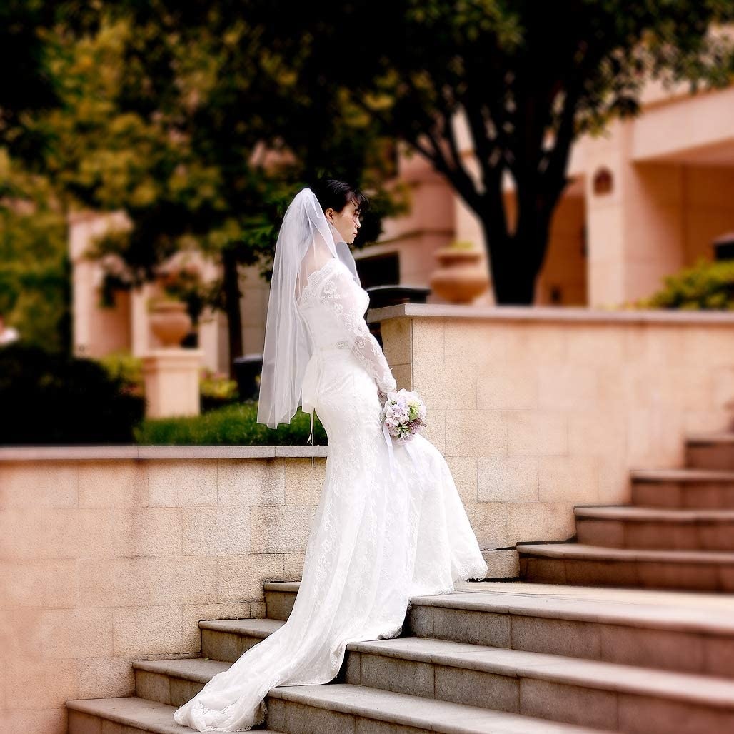 Azaleas Bridal Wedding Veil Ivory Single Layer Bridal Veil(V30)