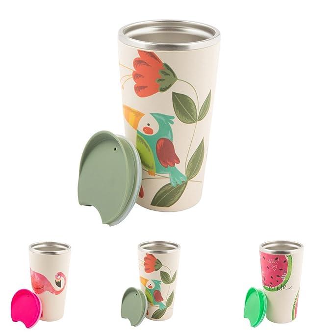 3 opinioni per BIOZOYG Sostenibile Tazza per caffè da Asporto di bambù con Nucleo in Acciaio