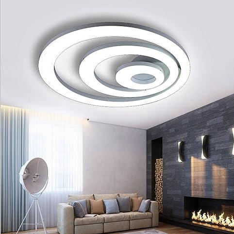 led deckenleuchte modern einfach klassisch acryl deckenlampe zum schlafzimmer wei runden 3 ringe bndig montieren zum - Deckenleuchte Schlafzimmer Weis