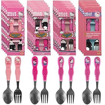Zak! (12pc) Hello Kitty Flatware Set Kids Silverware Spoons & Forks Sanrio Tableware, 6 Sets