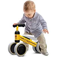 Hapsters Baby Balance Bikes, Baby Scooter for 12 to 24 Months, Toddler Bike Ride Toys for 1 Year Boys Girls No Pedal 4 Wheels Baby First Birthday Gift Bike