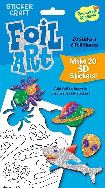 Amazon.com: Peaceable Kingdom Sticker Crafts Make My Own Cool Stuff ...