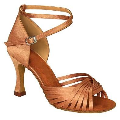 ffe6d439f KAI-ROAD Ballroom Dance Shoes Women 3 inch Flared Heel Latin Dress Shoes  Salsa Dancing