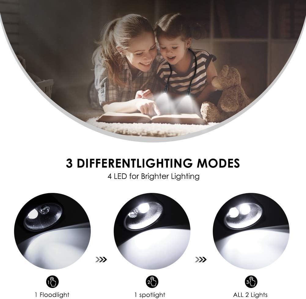 Collo Luce da Libro Ricaricabile USB Lampada da Lettura Notturna a Mani Libere Pieghevole con 3 Livelli di Luminosit/à Perfetta per La Lettura Notturna in Campeggio Eurobuy Lampada da Lettura a LED