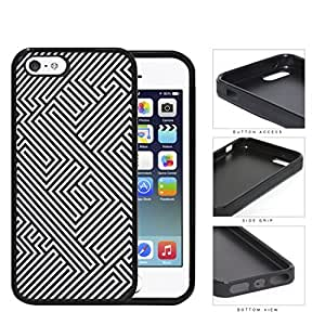 Maze Puzzle Design Pattern Rubber Silicone TPU Cell Phone Case Apple iPhone 5 5s