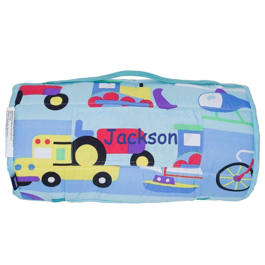Personalized Toddler M & PreschoolマイクロファイバーNapマット M WK-49690 Planes Go B0741R8671  Trains, Planes and Trucks On The Go, エービープラス:fd8291eb --- rakuten-apps.jp