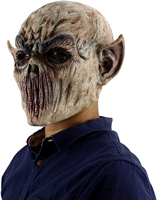 Forart Creepy Scary Halloween Cosplay máscara para Adultos ...