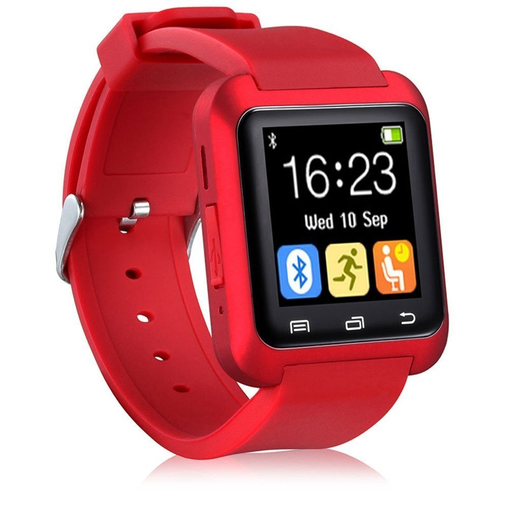 Amazon.com: NOKKOO Bluetooth Android Smart Mobile Phone U8 Wrist Watch Smart Phone Watch Smart Barcelet for Android Phone, Huawei, Google, Samsung (Red): ...