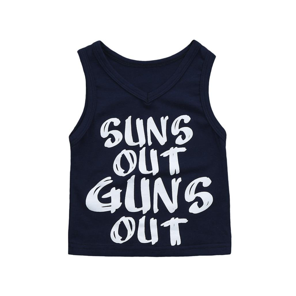Staron Newborn Baby Summer Casual Tank Tops Vest Boy Sleeveless Tees Outfits Clothes