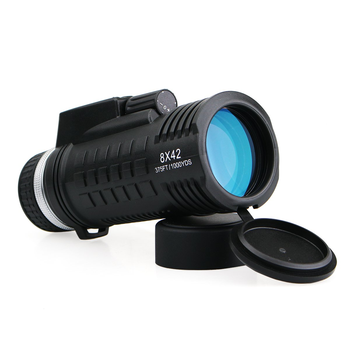 SVBONY SV42 Monocular Telescope Built-in Compass Rangefinder 8×42 BAK-4 Prism Waterproof Scope Single Hand Focus for Bird Watching Hunting Camping