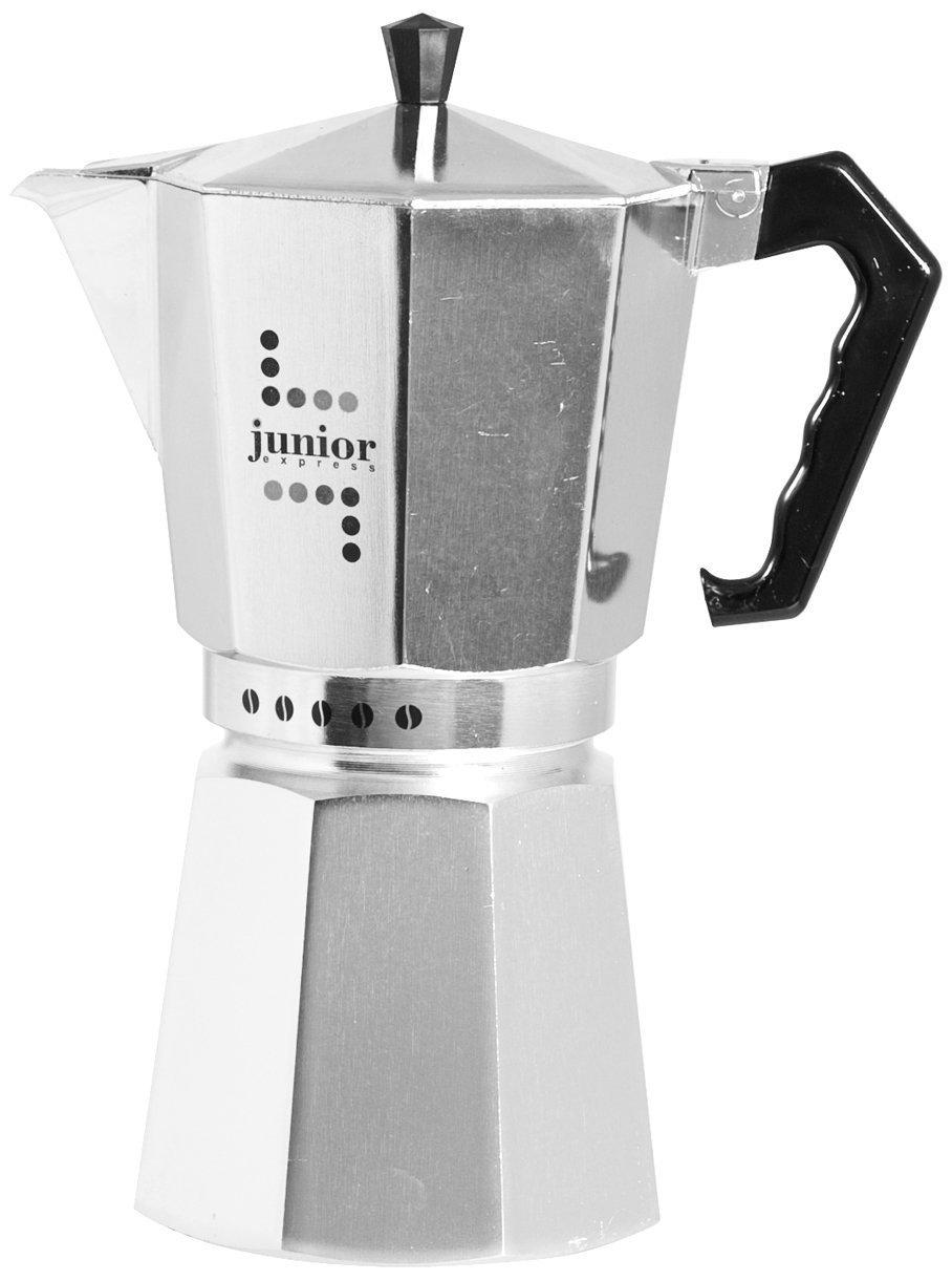 Junior Express Caffettiera, Alluminio, Argento, 1 Tazza Bialetti 5981 moke; caffettiere