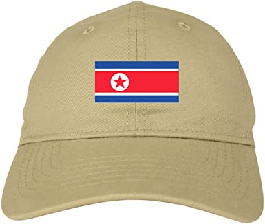 Adjustable Mens Denim Baseball Caps North Korea Flag Cool Cotton Hats