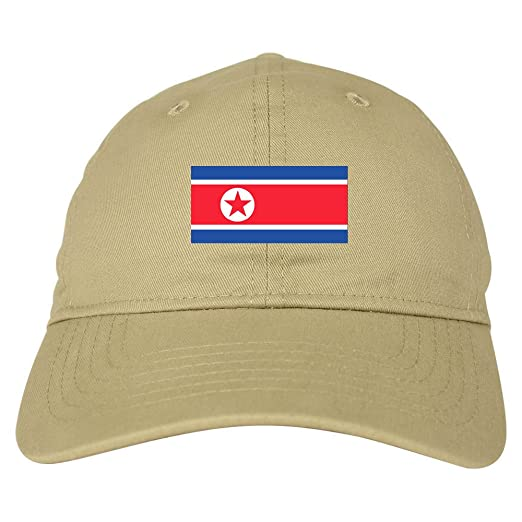 Amazon.com  North Korea Flag Country Chest Dad Hat Baseball Cap Beige   Clothing 39725d966c82
