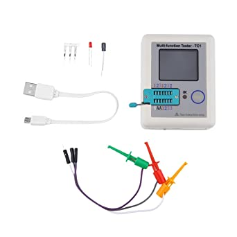 Transistor Tester Multifuncional TFT Retroiluminación Didoe Triodo Capacitancia Resistencia Detector Inductancia MOSFET NPN PNP Triac MOS