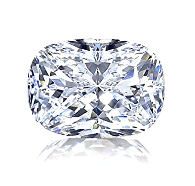 Amazon Com Diamonbella Realistic 101 Facets 2 Carat Rectangular