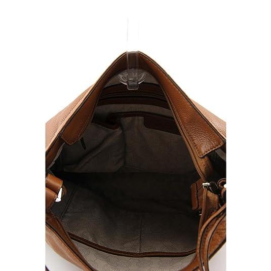 d437aa1a236e74 MICAHEL Michael Kors Essex Large Convertible Shoulder Bag in Luggage:  Handbags: Amazon.com