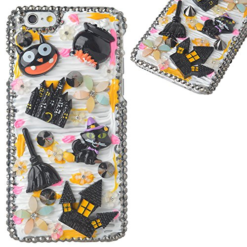 Spritech(TM) 3D Handmade Crystal Phone Case for iphone 6/6S Plus,Helloween Style Monster Haunted House Design Smartphone Cover]()