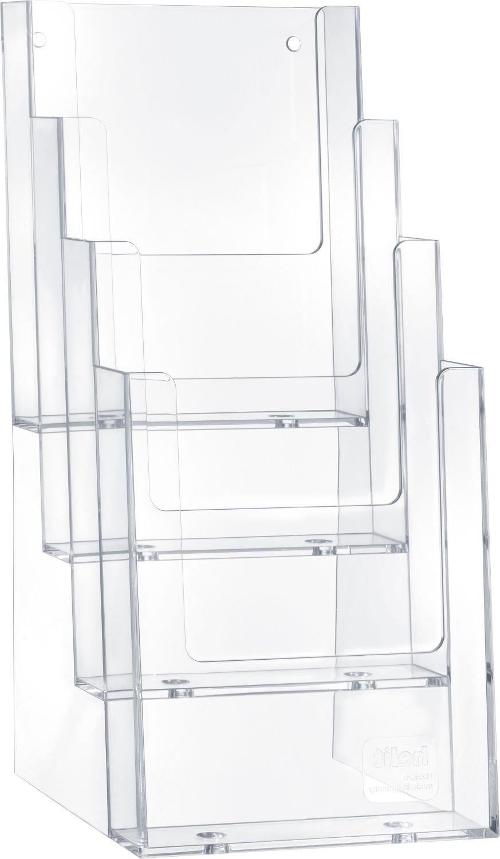 helit Tisch-Prospekthalter, 1/3 DIN A4/DIN C6, 4 Fächer H2352002