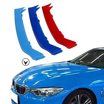 muchkey 3D M vor Styling K/ühlergrill Einsatz Trim Motorsport Streifen Grill Cover Dekoration Aufkleber f/ür F32/F33/F36/9/Strand