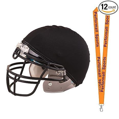 4f89c28595f4 Champion Sports Helmet Cover Black (Set of 12) Bundle 1 Performall Lanyard  HCBK-