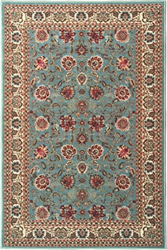 Ottomanson Ottohome Collection Persian Style Oriental Design Non-Skid Rubber Backing Area Rug, 8'2'' X 9'10'', Seafoam