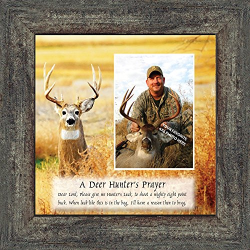 Personally Yours A Deer Hunters Prayer, Framed Hunting Picture, 10X10 (Hunting Framed)