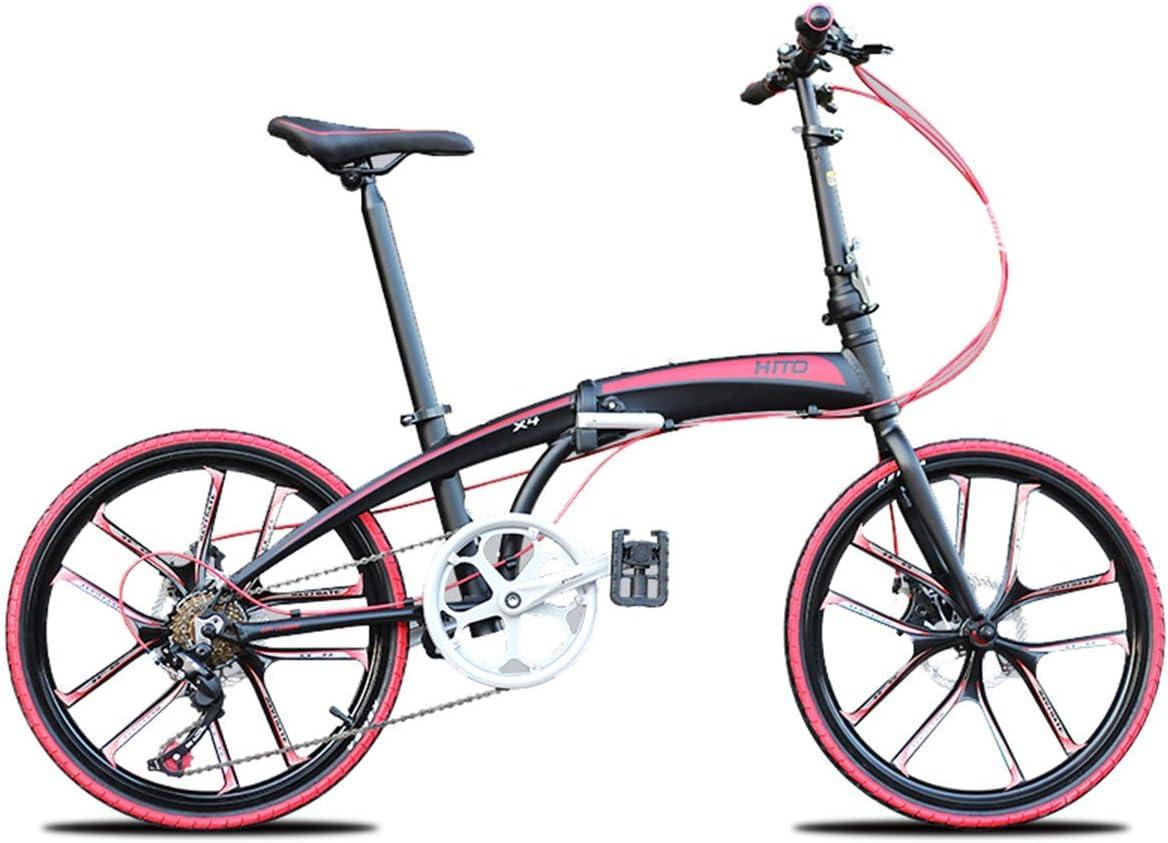 WZB Bicicleta Plegable, Bicicleta de Carretera Citybike con 22 ...