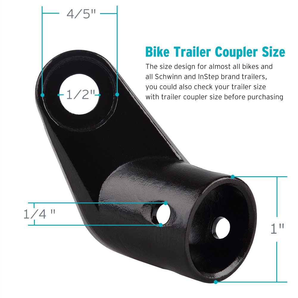 2-Pack Bike Bicycle Trailer Coupler Attachment Angled Elbow for InStep & Schwinn Bike Trailers by Titanker (Image #3)