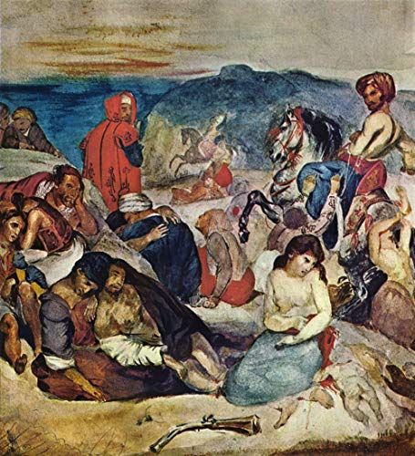 Home Comforts Peel-n-Stick Poster of Delacroix, Eugène Ferdinand Victor - Massacre at Chios (Study) Vivid Imagery Poster 24 x 16 Adhesive Sticker Poster Print (The Massacre At Chios By Eugene Delacroix)