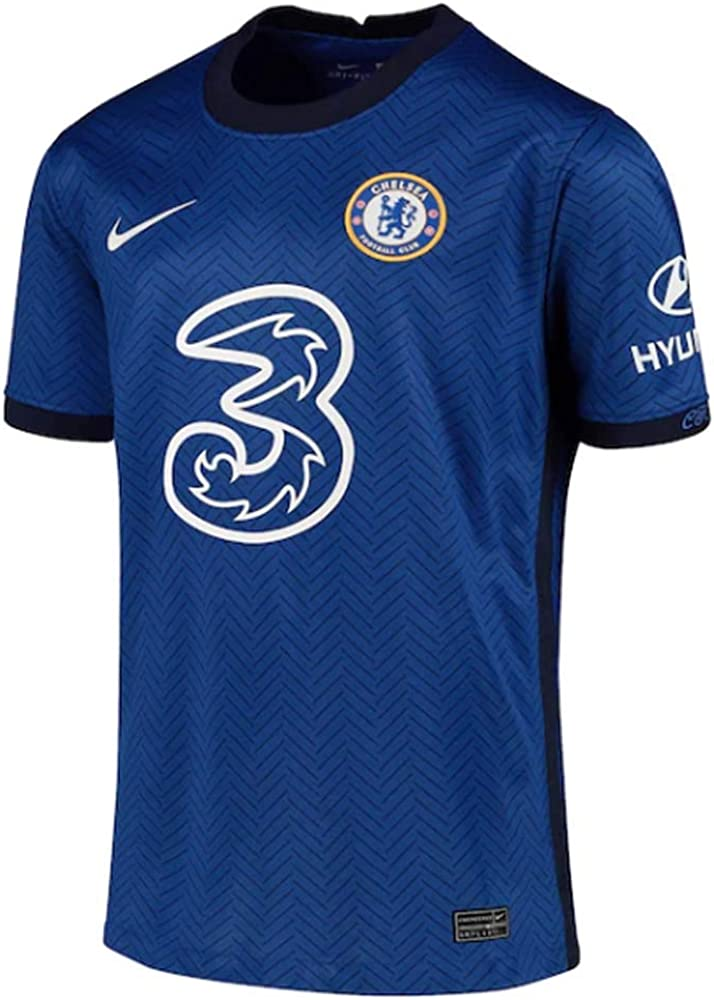 Nike 2020-2021 Chelsea Home Football Soccer T-Shirt Jersey (Kids)