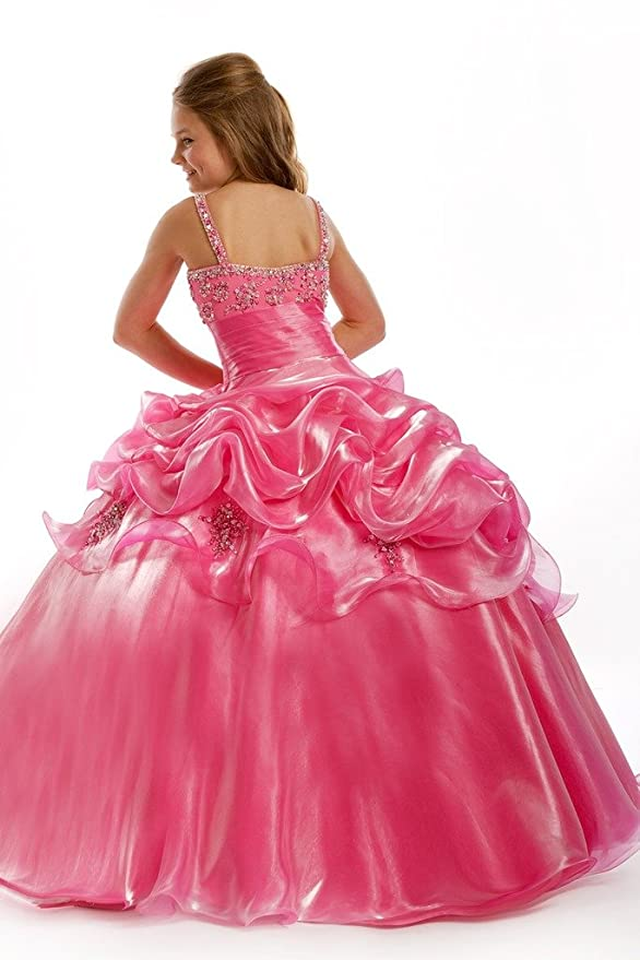 Amazon.com: BoShi Girls\' Straps Beads Party Ball Gown Pageant ...