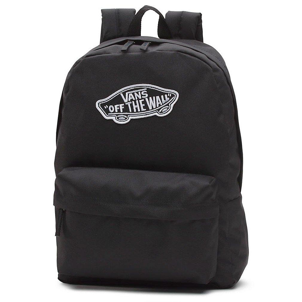 Vans Realm Backpack Casual Daypack, 42 cm, 22 Liters, Black