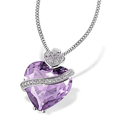Goldmaid Women 925 Sterling Silver Cubic Zirconia Heart Necklace xxblYxV