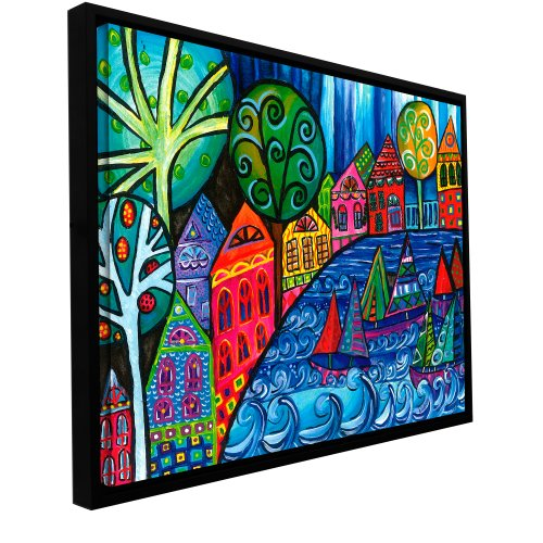 Price comparison product image ArtWall Debra Purcell 'The Watershed' Floater Framed Gallery-Wrapped Canvas 36 by 48