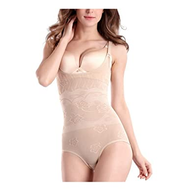 d7bbdd8ca Image Unavailable. Image not available for. Color  AVENBER Sexy Women  Bodysuits Slimming Suit Underwear Body Shaper ...