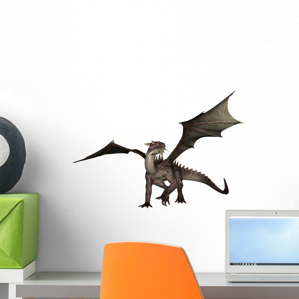18 in W x 14 in H Wallmonkeys Dragon Wall Decal Peel and Stick Graphic WM61600