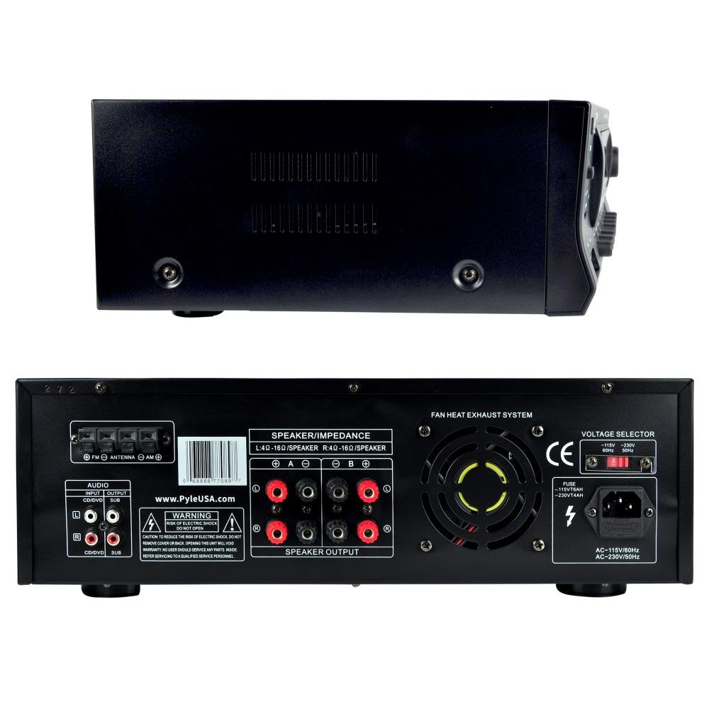 Wireless Bluetooth Audio Power Amplifier 300w 4 Tone Control Include Subwoofer Out Channel Home Theater Sound Compact Stereo Receiver W Usb Am Fm 2 Mic In Echo Rca Led Speaker Selector For Studio