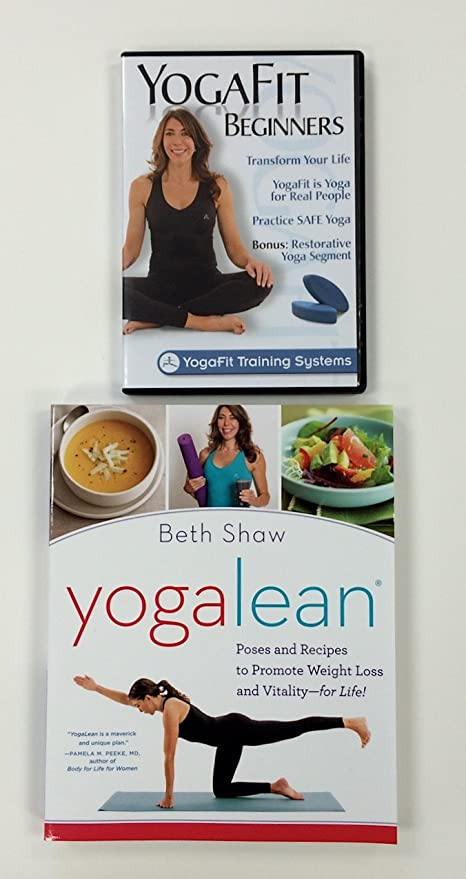 Amazon.com : Yogafit Beginners DVD and Yoga Lean Book Combo ...