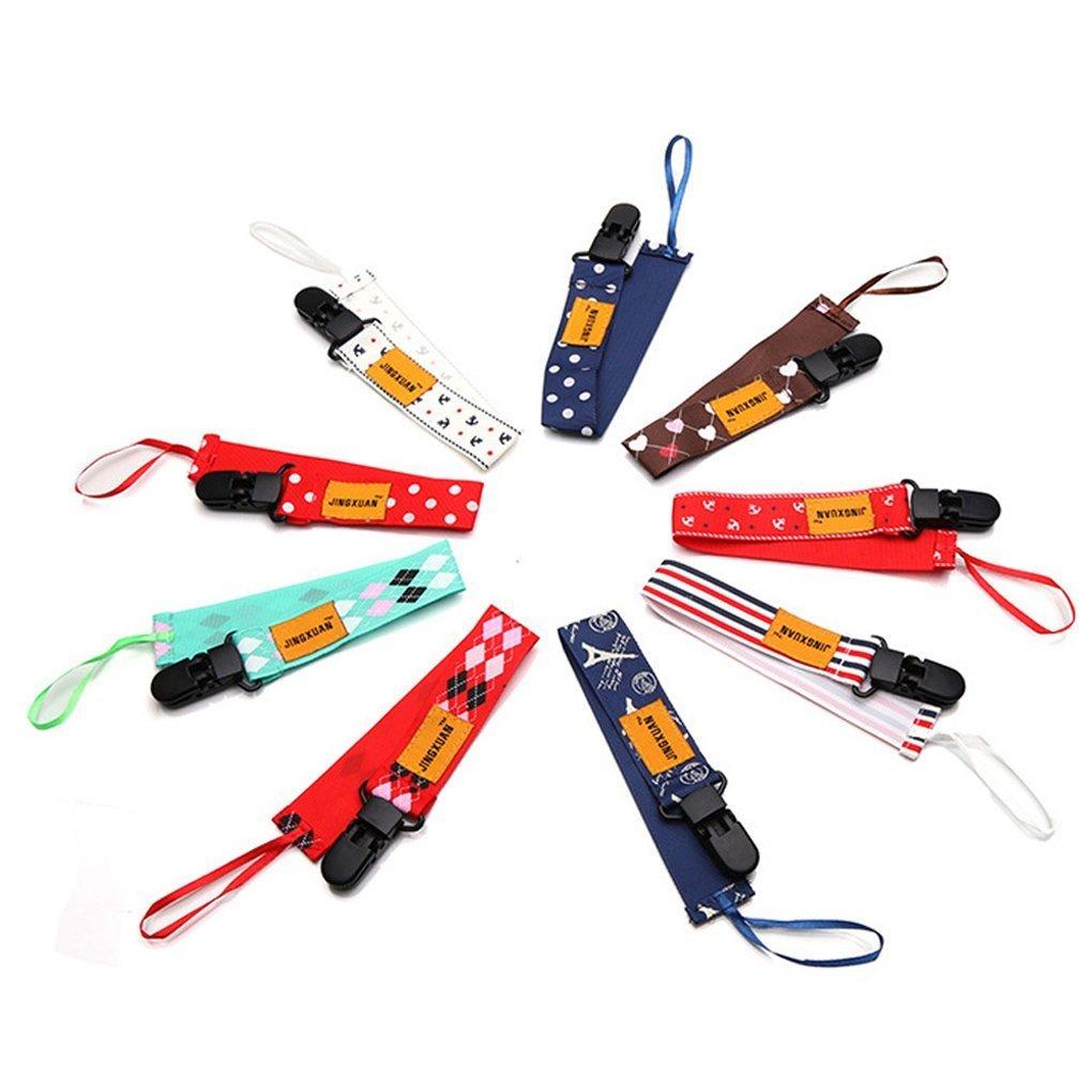 Bener 5pz capezzoli guinzaglio strap Chain off Belt clip ciuccio clip