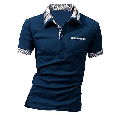 best sneakers 24abd 2ca12 Boom Fashion Herren Poloshirt Kurzarm Slim-Fit kontrast Polohemd