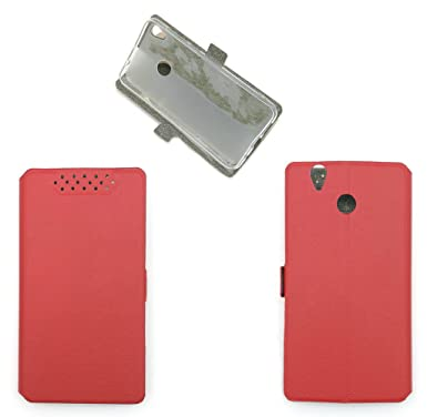 Case for TECNO Camon CX Case Flip Pu Leather Cover Red