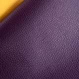ZAIONE 13 Colors By the Half Yard Width 54'' Roll Solid Lichee Faux Leather Material PVC Vinyl Upholstery Crafts Fabric Sew For Shoes Bag Sewing Patchwork DIY Bow Craft Applique(Purple)