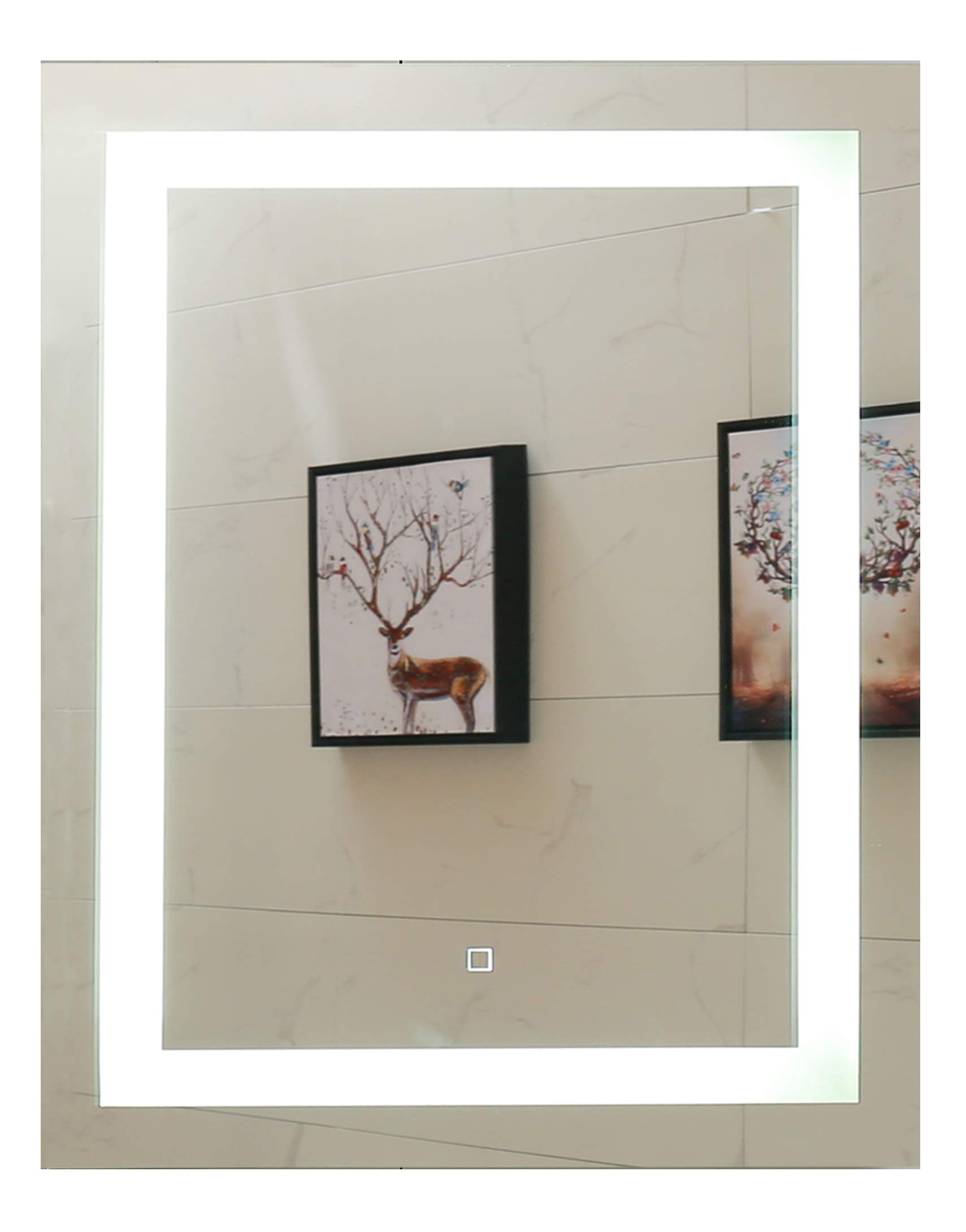 24X30 Inch LED Lighted Bathroom Mirror with Dimmable Touch Switch (GS099D-2430)(24x30 inch New)