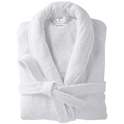 Terry Towelling Bathrobes 100% cotton in 2 sizes Plain Bath robes in 9  colours  Energy Class A++  1e850d2a2
